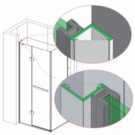 CORNER PROFILE FOR LATERAL FIXING